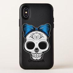 Sugar Skull Design OtterBox Symmetry iPhone X Case - Halloween happyhalloween festival party holiday