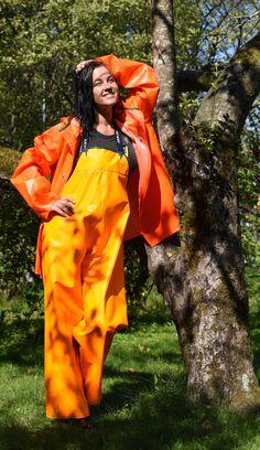 Rain Suit, Raincoat Jacket, Pictures Of People, Helly Hansen, Rain Wear, Rain Boots, Women Wear, Orange, Yellow