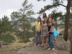 Darcy, Shani and her girls when we went to Golden, Colorado and up on Lookout Mountain where we saw Buffalo Bill Cody's grave.