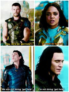 "The best part is then she looks at Loki like ""what the hell are you talking about?"" lol"