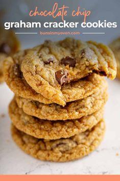 Graham Cracker Dessert, Graham Cracker Recipes, Graham Cracker Cookies, Graham Crackers, Baking Recipes, Cookie Recipes, Dessert Recipes, Small Batch Cookie Recipe, Crumb Recipe