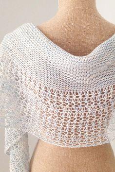 Ravelry: Rosewater shawl in Morning Bright Holistic Merino Fingering - knitting pattern by Janina Kallio.