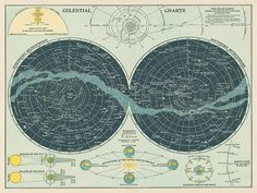Celestial Charts — Field Studies Editions Fine Art Prints That Embody the Spirit of the Desert Southwest Poster Retro, Poster Art, Vintage Posters, Poster Prints, Vintage Art Prints, Vintage Maps, Photo Wall Collage, Picture Wall, Wall Prints