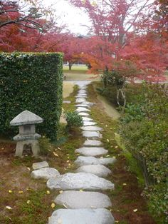 Gardens at the Katsura Villa in Japan. I love Japanese maples!