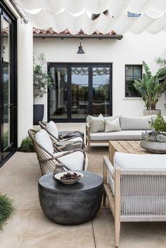 Outdoor Spaces, Outdoor Living, Outdoor Decor, California Living, Patio Design, Backyard Patio, Outdoor Furniture Sets, Living Spaces, Interior Design