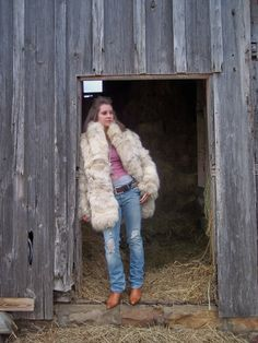 Finnish Fox Fur Coat.