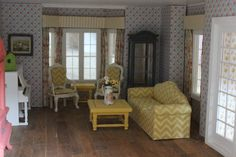 Cherry Cottage Dollhouse Minis: Victoria's Farmhouse Dollhouse Living Room Update!...