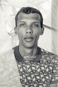 Singer-songwriter Stromae poses backstage at the Coachella Valley Music and Arts Festival at The Empire Polo Club on April 19, 2015 in Indio, California.