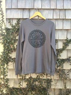 Martha's Vineyard Love Design on a Long Sleeve T Shirt. Original Linoleum Block Print Artwork By Althea Freeman-Miller by altheadesigns on Etsy