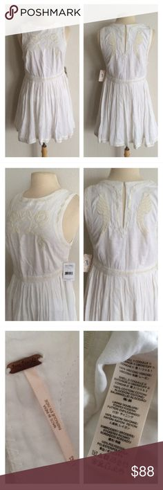 "Free People ""Birds of a Feather"" dress Free People dress. Size 12. Measures 35"" long with a 36"" bust. Fully lined. This dress is absolutely adorable with a pair of booties and can easily be dressed up or dressed down. There is a hidden zipper on the left side and a keyhole button on the top of the back.  🚫NO TRADES🚫 💲Reasonable offers accepted💲 💰Great bundle discounts💰 Free People Dresses"