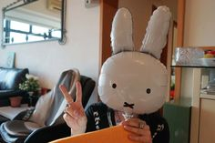 miffy halloween costume, bunny mask, miffy balloon. La Carmina hosted and local produced a travel TV show about Hong Kong culture, food and martial arts, for German TV. See the clips and photos, with presenter Palina Rojinski, at http://www.lacarmina.com/blog/2015/10/palina-rojinski-hong-kong-travel-television-host/
