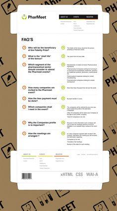 Diseño web Pharmeet on Behance
