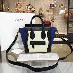 product code # 8572707 100% Genuine Leather Matching Quality of Original Celine Production (imported from Europe) Comes with dust bag, authentication cards, box, shopping bag and pamphlets. Receipts are only included upon request. Counter Quality Replica (True Mirror Image Replica) Dimensions: 19cm x 10cmx 19.5cm (Length x Height x Width) Our Guarantee: The handbag you...READ MORE