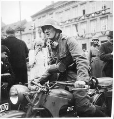 GERMAN BIKER IN A ZUNDAPP