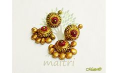 Widest Range Of Big Size Terracotta Earrings - Best Quality with Best Prices. Handmade - Unique Products - Exclusive Variety ✓COD Available ✓Free Delivery on all orders above Rs Thread Jewellery, Clay Jewelry, Jewelry Accessories, Jewelry Design, Jewelry Ideas, Teracotta Jewellery, Terracotta Jewellery Designs, Terracotta Earrings, Clay Projects