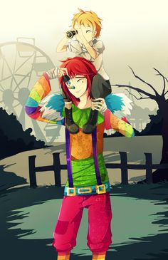Great times -Laughing Jack and Isaac by TheHobbyHorse