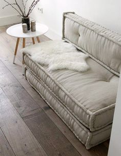 French mattress cushions used 5 ways in interiors
