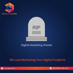 Say #RIP to all your digital marketing worries because WE ARE HERE FOR YOU! We know everyone will be with you in your happiness, but we will always be with you in all your Digital Marketing difficulties. For Digital Marketing and Website Development Services Contact Us : +916269066189. #digitalmarketingworries #noworries #digital #godigital #digitalfootprint #dc #grow #trending #strategy #marketingworld #onlineworld #growyourbusiness #digitalmarketing #marketingservices #digitalcreaters Best Marketing Companies, Best Digital Marketing Company, Digital Marketing Services, Hospital Website, Best Web Development Company, Marketing Poster, Digital Footprint, Seo Agency, Digital Trends