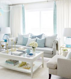 Minimalist living room is enormously important for your home. Because in the living room all the undertakings will starts in your beautiful home. locatethe elegance and crisp straight Zen Minimalist Living Room. Coastal Living Rooms, Small Living Rooms, Home Living Room, Living Room Designs, Coastal Cottage, Coastal Style, Coastal Decor, Cozy Living, Living Room Decor Aqua