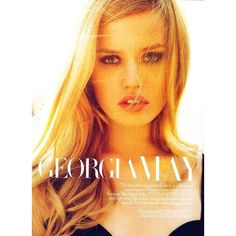 And God Created Georgia May (Harper's Bazaar UK) ❤ liked on Polyvore featuring models, people, pictures, faces y backgrounds