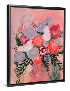 Eva's Bouquet Abstract Floral Wall Art by Lindsay Sherbondy of Lindsay Letters.
