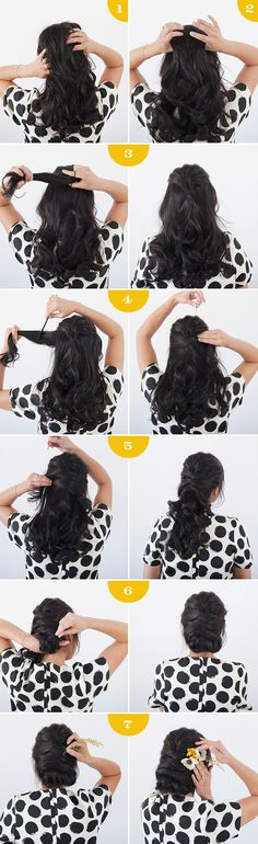 Add a few flowers to your hair for this summer style. | 30 No-Heat Hairstyle Ideas To Get You Through Summer