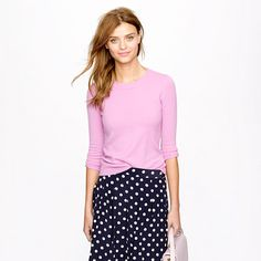 browsing J. Crew and found the exact hair color I've been looking for. Cute outfit, too.