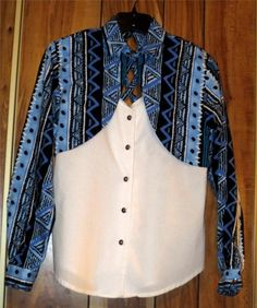 Woman's Rough Rider Cotton Button Front Western Shirt Size XS Extra Small Blue Now $9.87