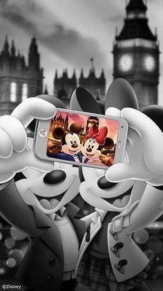 Wallpaper Disney - Ah şu hayat siyah beyazken bile renkli görenler var. Mickey Mouse Wallpaper Iphone, Cute Disney Wallpaper, Walt Disney, Disney Art, Images Disney, Disney Pictures, Disney Animation, Mickey Mouse Kunst, Iphone Background Disney