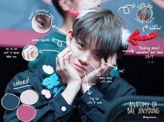 Anatomy of Bae Jinyoung Picsart, Korea Boy, Jinyoung, Nct, Haha, Lips, Kpop, Celebrities, Artist