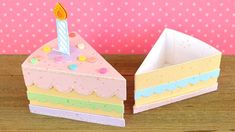 Lawn Fawn Video: How to create a cute birthday cake treat box with Chari! Cake S… - Birthday Cake Blue Ideen Diy Christmas Gifts For Kids, Diy For Kids, Handmade Christmas, Christmas Cards, Cute Birthday Cakes, Birthday Cards, Birthday Box, Birthday Gifts, Diy Gift Box