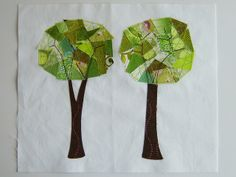Mod Trees Quilt Block by Marci Girl Designs, via Flickr