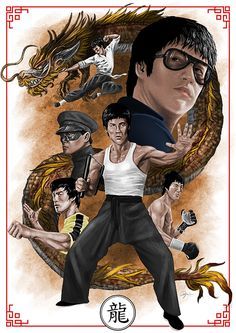 This man, his works and his philosophy made such a big influence in my life. RIP Bruce Lee Step by Step-Tutorial Process Gif You can check out. The Immortal Dragon Bruce Lee Poster, Bruce Lee Art, Bruce Lee Martial Arts, Kung Fu Martial Arts, Bruce Lee Photos, Ben Bruce, Way Of The Dragon, Enter The Dragon, Little Dragon