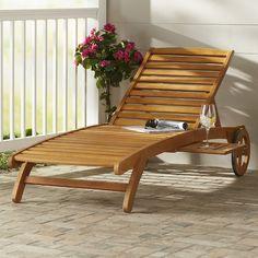 2388ec1b191 Dracaena Balau Wood Patio Chaise Lounge  birchlane Sillas Para Patios