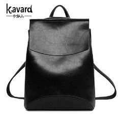 Backpacks  2016 Design PU Leather Backpack Women Backpacks For Teenage Girls School Bags Black Summer Brand Vintage Backpack Mochilas Mujer -- Click the VISIT button to view the details