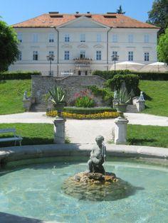 Ljubljana,The Tivoli Park, Slovenia / Dog Statues by Anton Dominick Ritter von Fernkorn