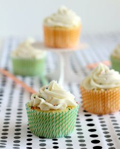 Vanilla Cupcakes with a Surprise Inside!