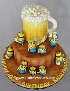 Beer drinking minions! by Lulubelle's Bakes