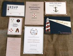 Nautical Wedding Invitation- inspiration!
