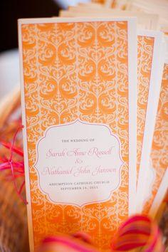 Wedding Programs   http://stylemepretty.com/2012/05/25/chicago-yacht-club-wedding-by-sarah-postma-photography   Sarah Postma Photography