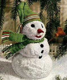 Mr Snowman Doll crochet pattern published in Crochet for Christmas, Star Book #94.