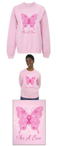 For a Cure Pink Ribbon Sweatshirt at The Breast Cancer Site