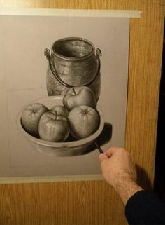 Still Life Sketch, Art Projects, Projects To Try, Apple Painting, Art Drawings, Sketchbook Drawings, Acrylic Art, Teaching Art, Home Art