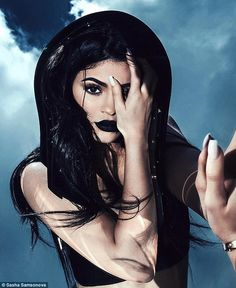 'I love how edgy they are': Kylie Jenner has posed for a photo shoot to promote her new lip kit shades, and shared a snapshot of her modelling Dead Of Knight on her app on Friday