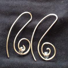 Wire earrings. Jf