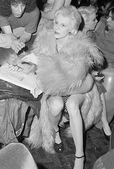 Angela Bowie at a Ziggy Stardust show,1973.