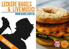 Leckere #Bagels & #LiveMusic ! Heute ist endlich wieder #OpenStage :-) Ab 18 Uhr bei uns im #bagelshop  www.bagelshop.de