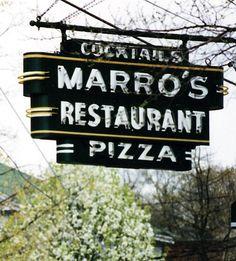 Marro's Pizza Neon Sign - Saugatuck, Michigan (Gone)