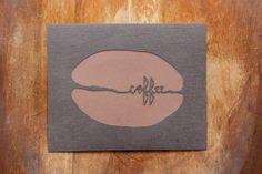 COFFEE BEAN Hand Cut Wall Art 8x10 by JerseysFreshest on Etsy, $15.00