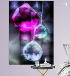 Crystals Poster - mimulux patricia no Lava Lamp, Illustration, Table Lamp, Crystals, Photography, Home Decor, Digital Art, Lamp Table, Photograph